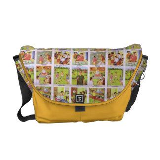 Retro Kitsch Indian poster Messenger Bag