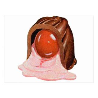 Retro Kitsch Vintage Cherry Cordial Candy Art Postcard