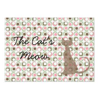 Retro Kitty Cat Card