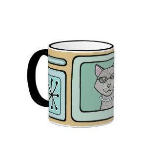 """Retro Kitty """"Lucinda"""" Mug"""