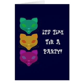 Retro Kitty Trio Card