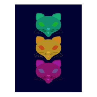 Retro Kitty Trio Postcard