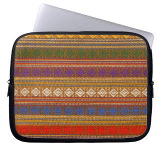 Retro Knit Funky Stripes Neoprene Laptop Sleeve