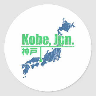 Retro Kobe Round Stickers