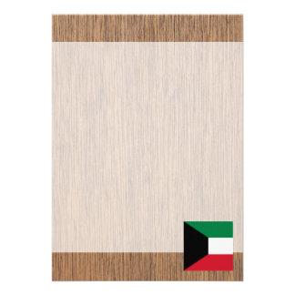 "Retro Kuwait Flag 5"" X 7"" Invitation Card"