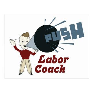 Retro Labor Coach Postcard