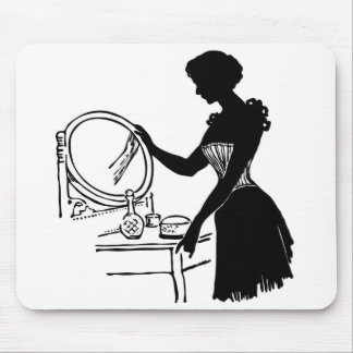 Retro Lady at Vanity Mouse Pad