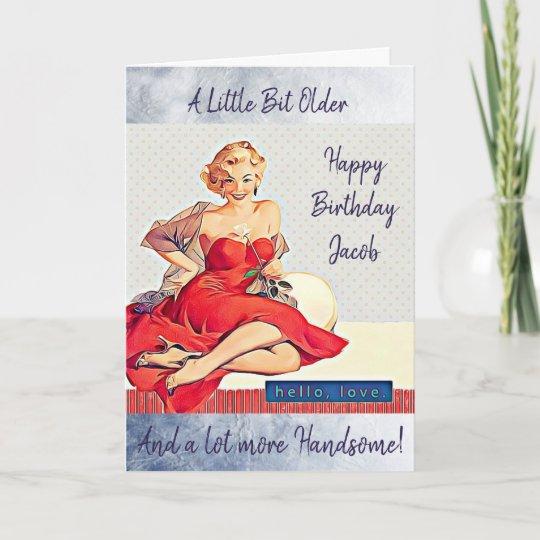 Retro Lady Birthday Card For Him