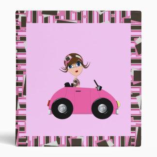 Retro Lady in Cartoon Car Binder