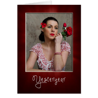 RETRO LADY IN RED - BLANK NOTE CARDS