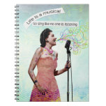 Retro Lady Life Is A Musical Sing Notebook