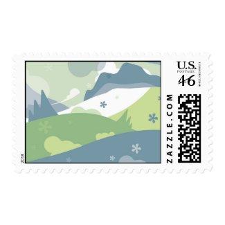 Retro Landscape Postage stamp