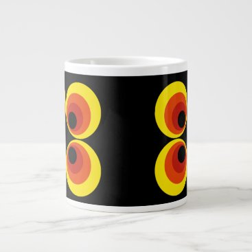 Beach Themed Retro Large Coffee Mug