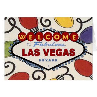 Retro Las Vegas Christmas Light Card