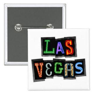Retro Las Vegas Neon Button