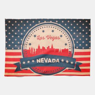 Retro Las Vegas Nevada Skyline Kitchen Towel