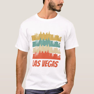 Retro Las Vegas NV Skyline Pop Art T-Shirt