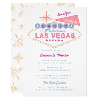 Retro Las Vegas Sign Bachelorette Party Card