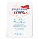 Retro Las Vegas Sign Casino Wedding Invitation