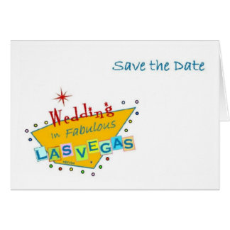 Retro Las Vegas Sign Save the Date Wedding Card