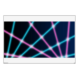 Retro Laser Photo Backdrop 80s 90s Neon Lights Wall Decal