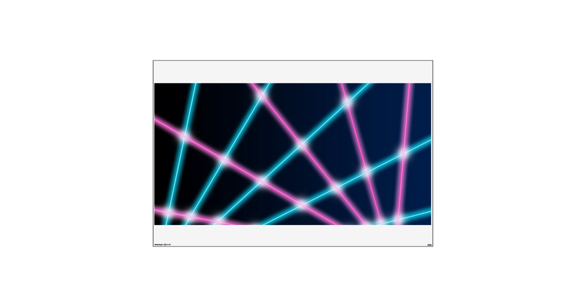90 S Walls Google Search: Retro Laser Photo Backdrop 80s 90s Neon Lights Wall Decal