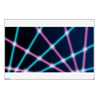 Retro Laser Photo Backdrop 80s 90s Neon Lights Wall Graphic