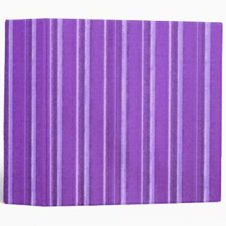 Retro Lavender Purple Stripe Vinyl Binders