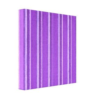Retro Lavender Purple Stripe Canvas Print