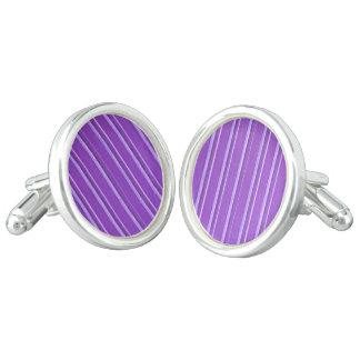 Retro Lavender Purple Stripe Cufflinks