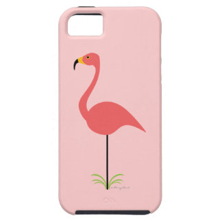 Retro Lawn Flamingo with Customizable Background iPhone 5 Covers