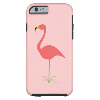 Retro Lawn Flamingo with Customizable Background Tough iPhone 6 Case
