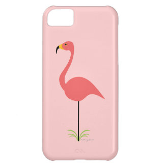 Retro Lawn Flamingo with Customizable Background iPhone 5C Cases