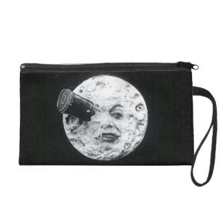 Retro Le Voyage dans la Lune or A Trip to the Moon Wristlet Purse