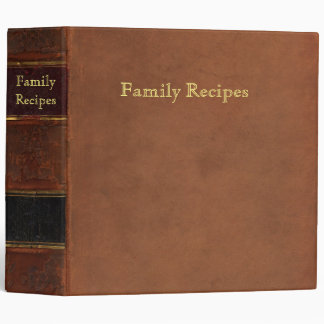 Retro leather look: Antique family recipes 3 Ring Binder