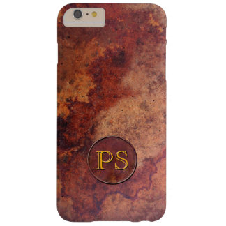 Retro Leather Monogram or Initial Barely There iPhone 6 Plus Case