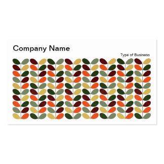Retro Leaves II 02 Double-Sided Standard Business Cards (Pack Of 100)