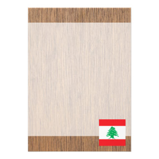 Retro Lebanon Flag Card