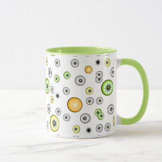 Retro Lemon Lime Orange Starburst Fruit Mug