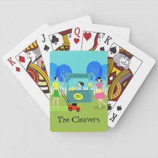 Retro Lemonade Stand Playing Cards