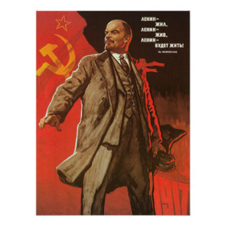 Retro Lenin Poster from the Russian Revolution