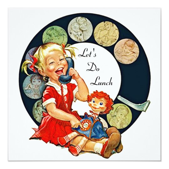 retro let u0026 39 s do lunch invitations long time friends