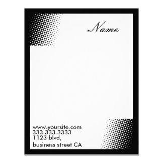 retro letterheads letterhead template