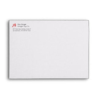 Retro Letterpress Style Santa with Pipe Envelope