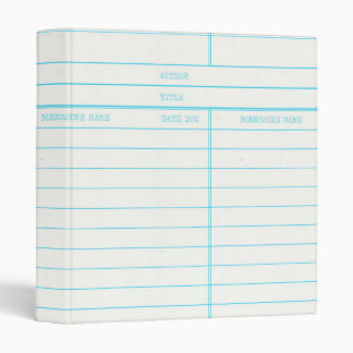 Retro Library Book Date Due Card 3 Ring Binder