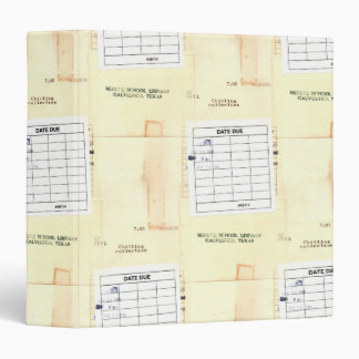 Retro Library Book Date Due Card Binder