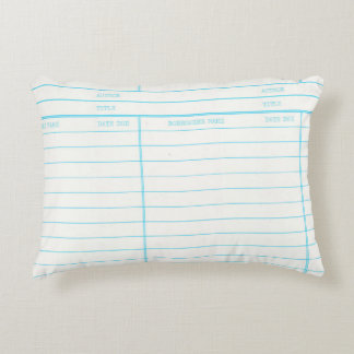 Retro Library Book Date Due Card Decorative Pillow