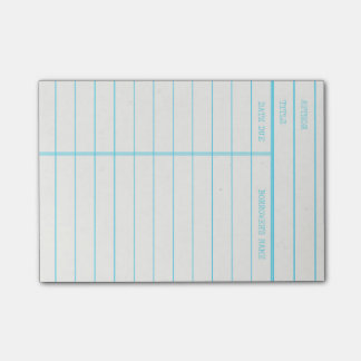 Retro Library Book Date Due Card Post-it Notes
