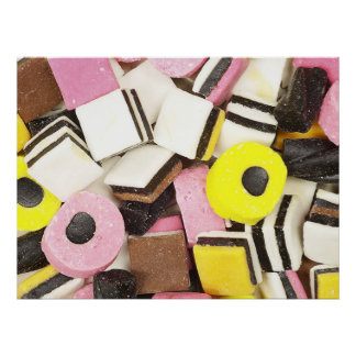 Retro Licorice Candy Poster