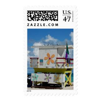 retro lifeguard stand postage